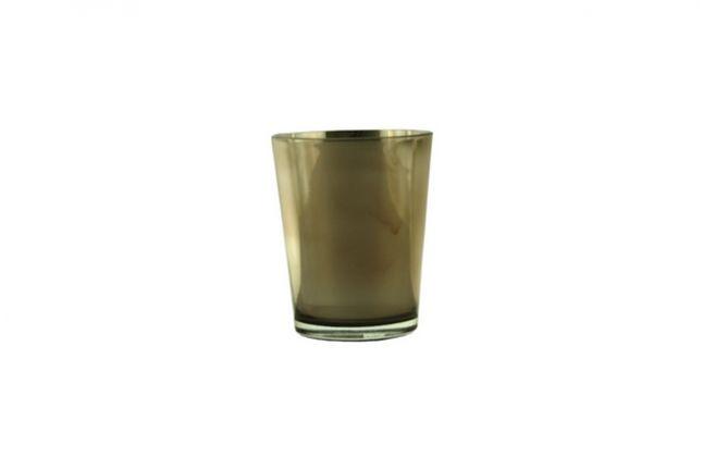 VASO VETRO GLOOME CM13X16 COL.OYSTER (8166-825) - Ambroso