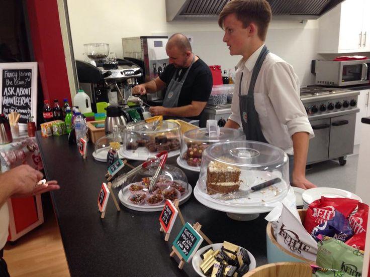 Hub Cafe volunteers serving :)
