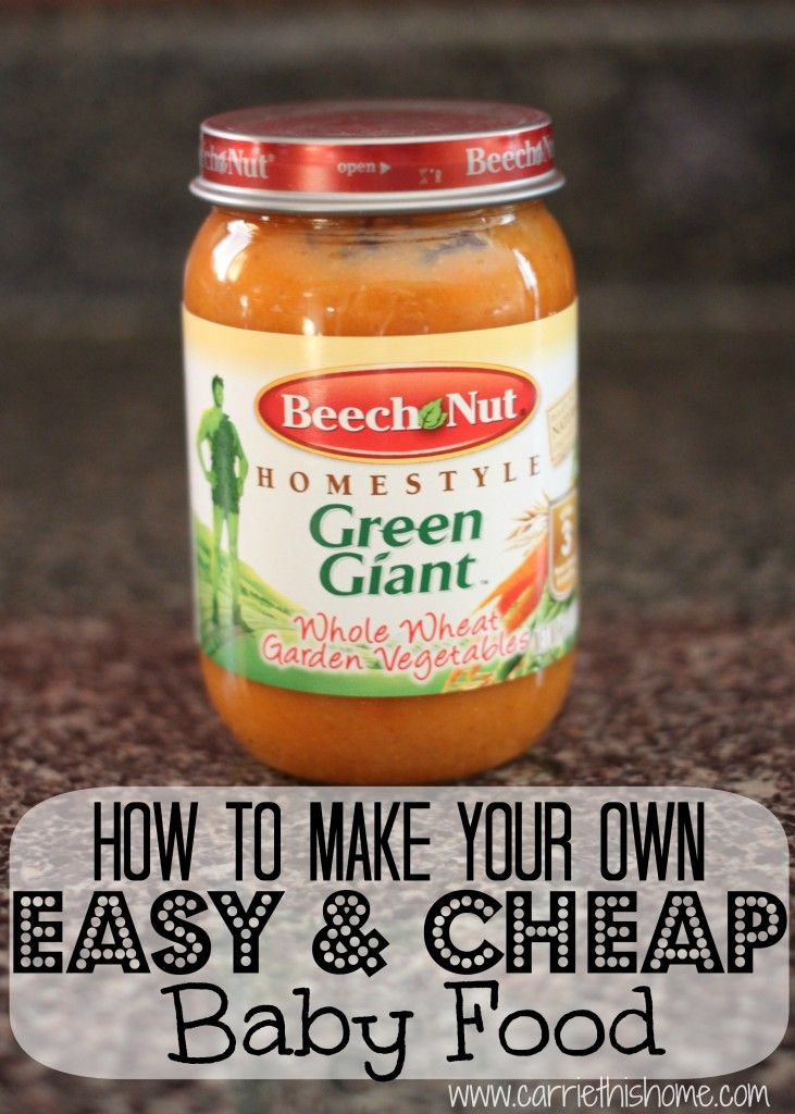 How to make baby food the easy and cheap way!