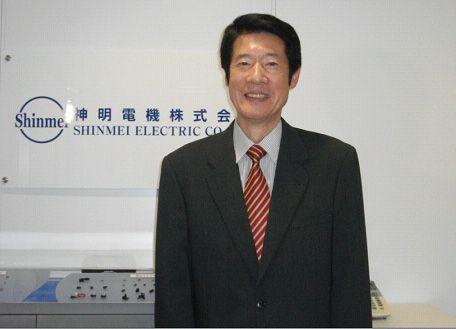 2013年1月18日の朝から翌日の夜まで、中方の経営陣とともに社長室に軟禁されていた、神明電機の田村英昭社長。「労働条件に反発」で工場占拠までされてしまう、厳しい労使関係があった様子。