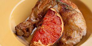 Жареная курица с паприкой и грейпфрутом