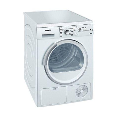 Buy Siemens WT46E381GB Condenser Tumble Dryer, 7kg Load, B Energy Rating, White Online at johnlewis.com