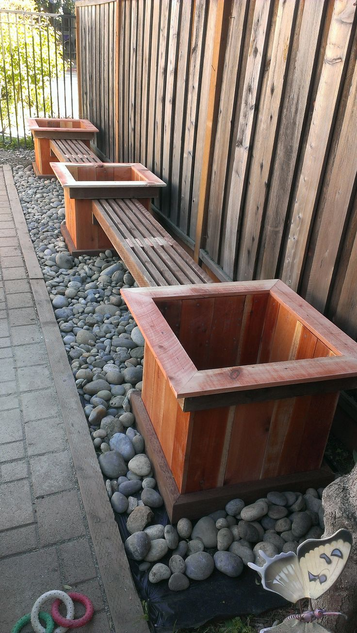 Planter benches redwood and teak 44 best