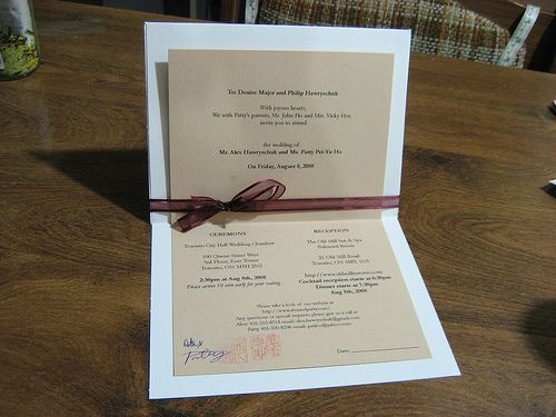 Great Homemade Wedding Invitations
