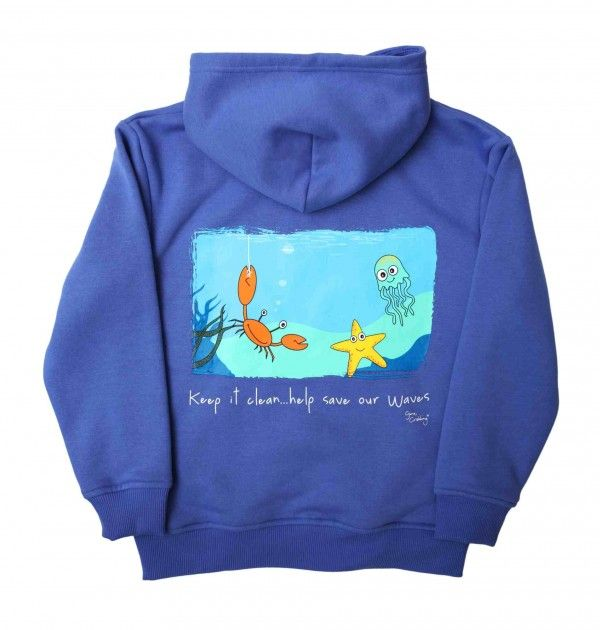 Save Our Waves – Blue Hoodie