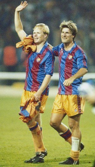20 maig 1992. Wembley, Londres. FC Barcelona. Ronald Koeman i Michael Laudrup.
