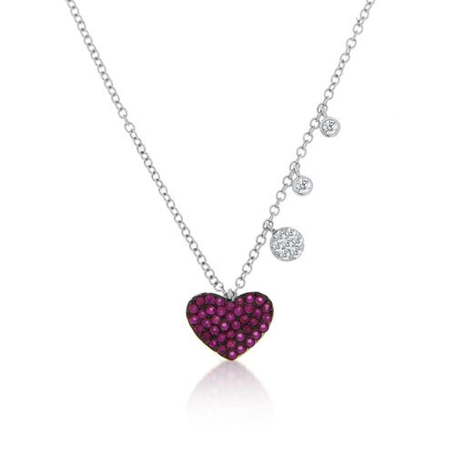 Meira T Ruby Heart Necklace available Michael Herr Diamonds & Fine Jewelry. Visit our St. Louis area store or contact us to order.