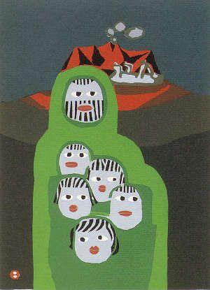 AZECHI Umetaro (1902-1999), Japan, woodblock print 畦地梅太郎