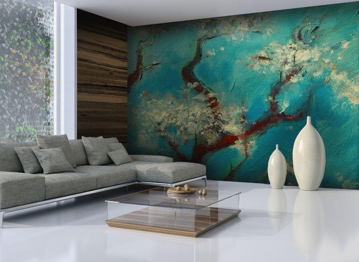 les 25 meilleures id es de la cat gorie papier peint arbre sur pinterest arbres peints tissu. Black Bedroom Furniture Sets. Home Design Ideas
