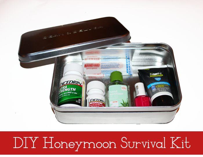 DIY Honeymoon Survival Kit #MoreMomentsWithExcedrin #ad