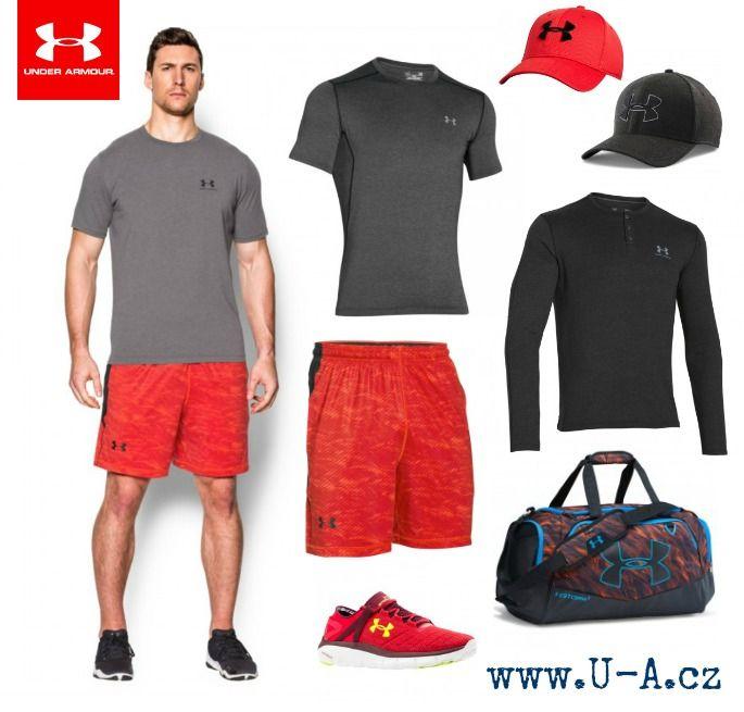 Sportovní outfit Under Armour - triko, kraťasy, kšiltovka, taška a boty
