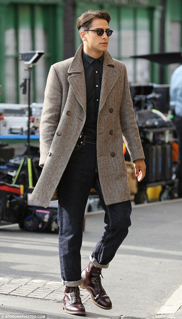 Luke Pasqualino as Albert Hill on set - Snatch