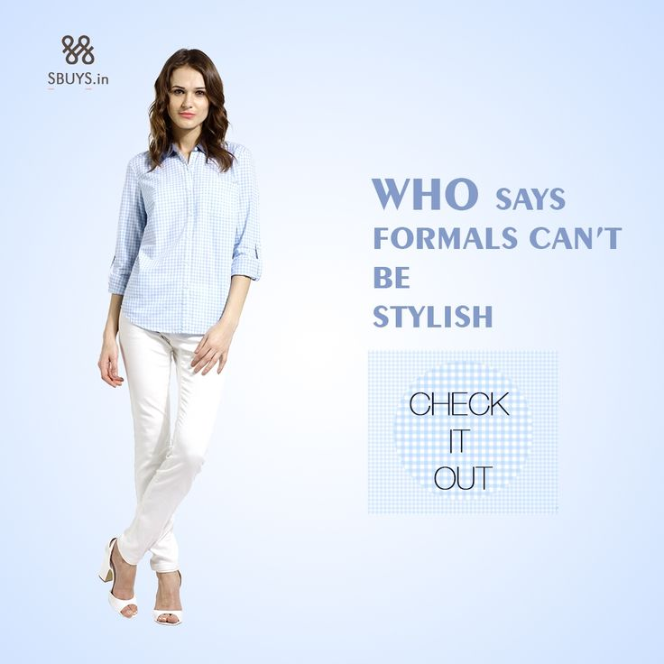 #Stylish #formal wear collection for #women...Checkout Now >>> http://www.sbuys.in/sbuys-regular-button-down-shirt-4715.html #shirts