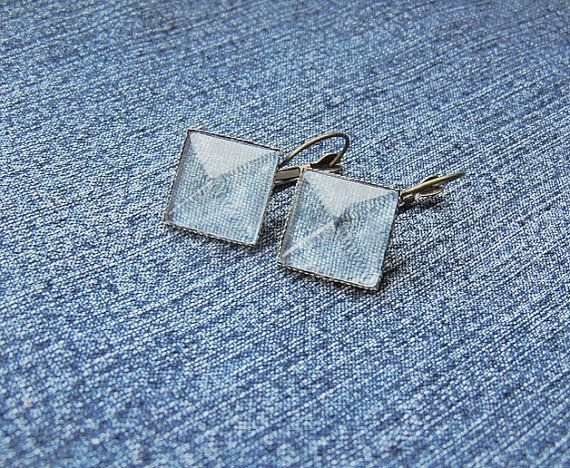 denim earrings denim jewelry denim collection denim by styledonna