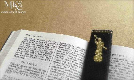 Miniature Angel Moroni Cross Stitch Pattern - Perfect for bookmarks on Etsy, $1.99
