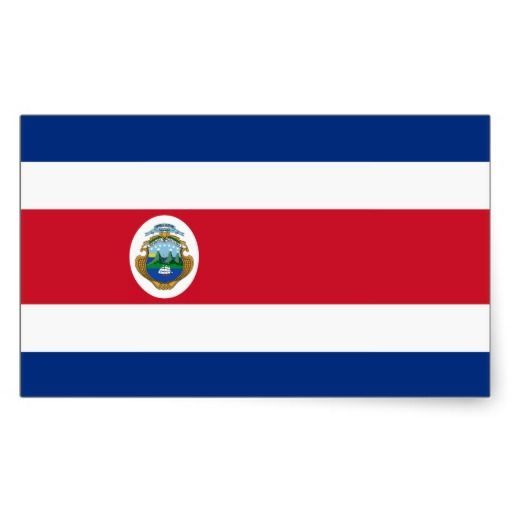 Costa Rican flag Stickers
