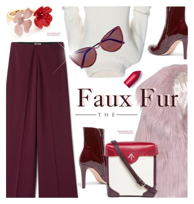 """Faux Fur"" by cilita-d ❤ liked on Polyvore featuring Marni, Gianvito Rossi, Miu Miu, MANU Atelier, Cutler and Gross and JULIANNE"