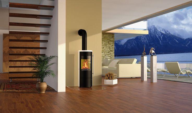 Design-Kamin-Ofen OLSBERG Tipas Compact II Standkamin - Formschönes Design in verschiedenen Varianten - Die Variante mit Abdeckung