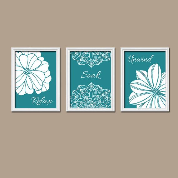 17 best ideas about teal bathroom decor on pinterest for Bathroom canvas painting ideas