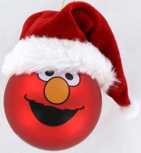 Sesame Street Elmo Big Face Christmas Ornament