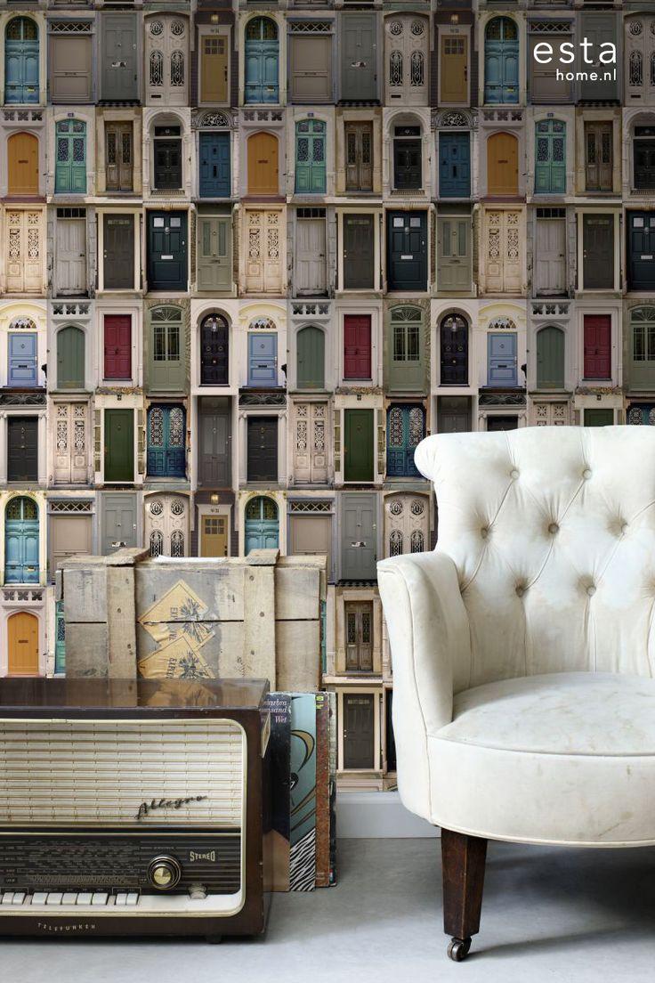 wallpaperXL vintage doors collectie Brooklyn Bridge ESTAhome.nl