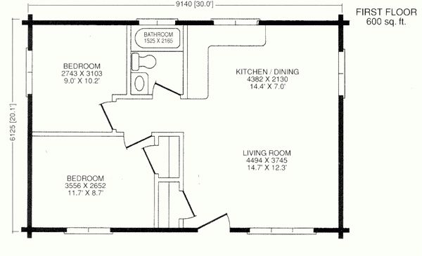 Best 25+ 20x30 house plans ideas on Pinterest | Garage granny flat, 1 bedroom house plans and ...