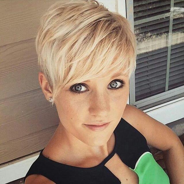 Short Pixie Hair Style.
