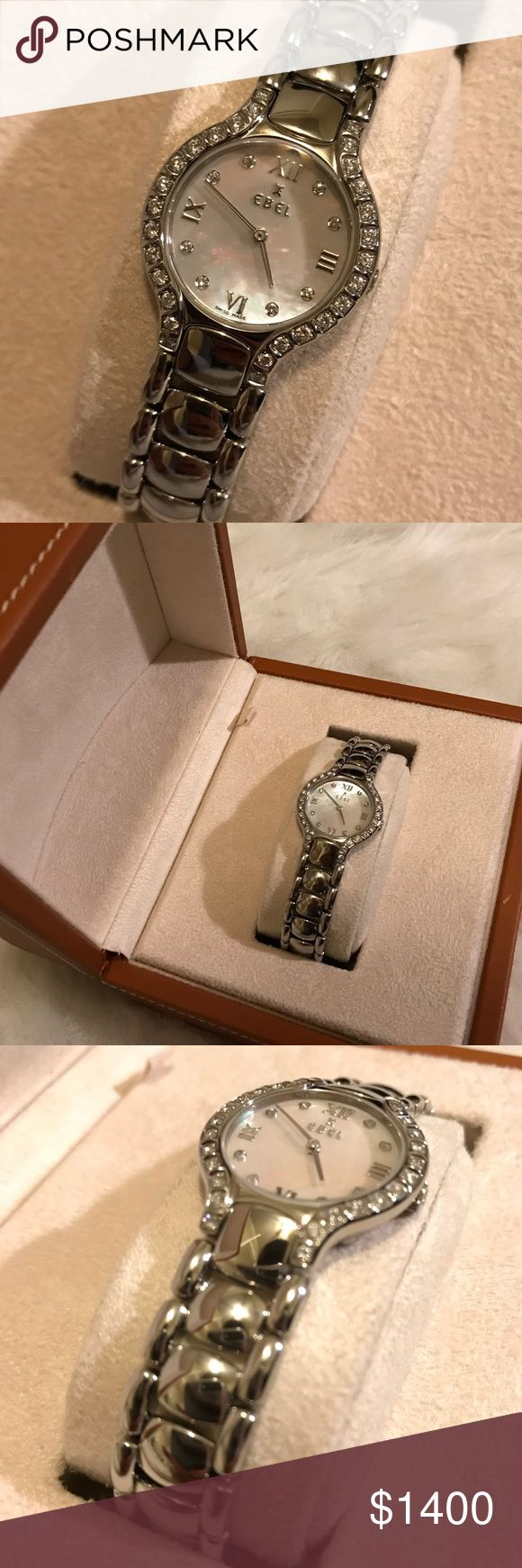 Ebel Beluga Mother of Pearl Stainless Steel Watch Excellent condition and beautiful watch. Please see photos and reach out with questions. Thank you! Ebel Accessories Watches