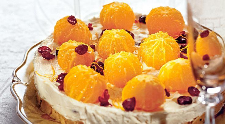 Творожный торт с мандаринами