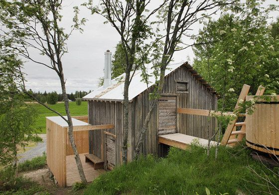 Old barn converted into a sauna. Lassila Hirilammi Architects_