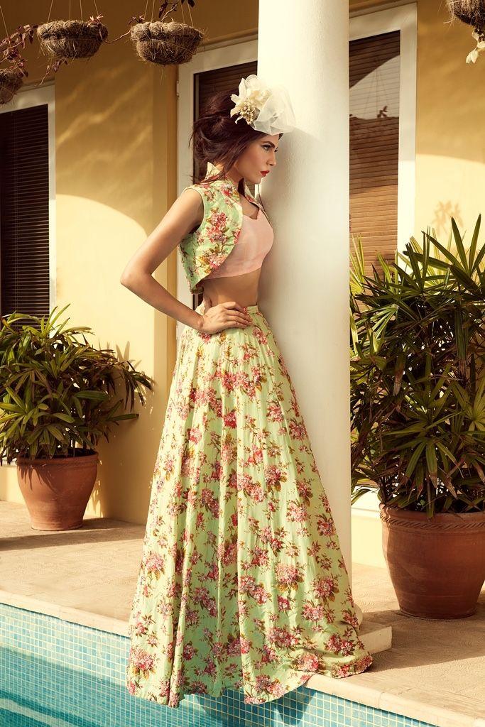 Pakistani model Amna Babar posing for Zara Shahjahan.