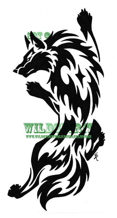Climbing Wolf Tribal Tattoo By Wildspiritwolf On Deviantart Design 400x742 Pixel