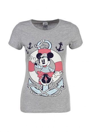 Женская футболка Disney выполнена из дышащего хлопкового материала серого цвета. Детали: приталенный крой, принт с Минни Маус. http://j.mp/1pPenSJ