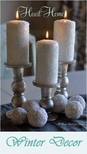 winter decor and fun with Epsom salt!