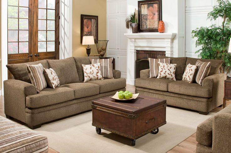 My Miranda is not your average fabric livingroom set  Bobs Discount Furniture  Living room