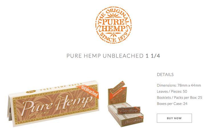 Unbleached Pure Hemp 1¼ Size / Medium / 78mm #PureHemp #Unbleached #Since1879 Available HERE: www.shop.purehemp.com/content/pure-hemp-unbleached-1%C2%BC-size