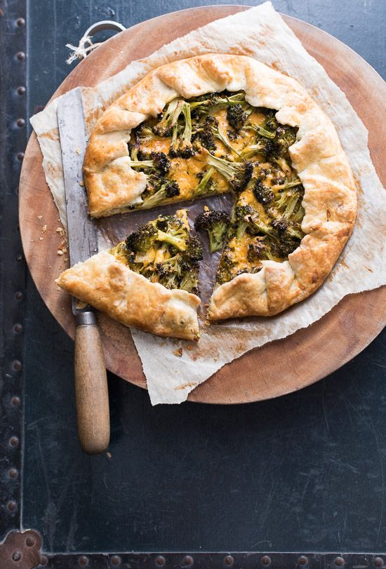 Fantastic Broccoli and Cheese Galette Recipe : Humble ingredients made fancy @whiteonrice