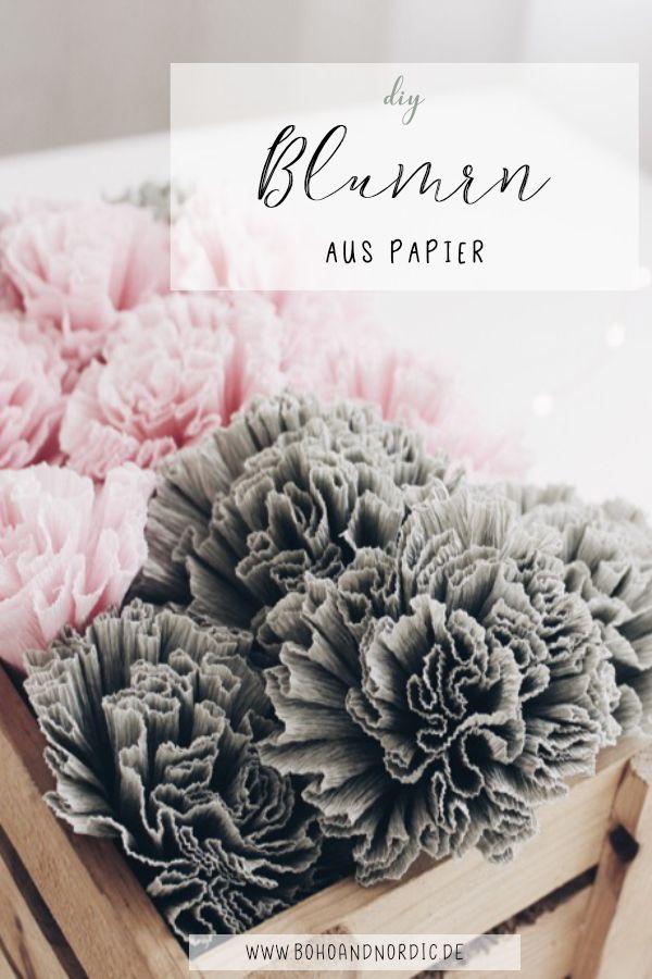 Diy Blumen Aus Krepppapier Ideen Von Boho And Nordic Basteln Mit