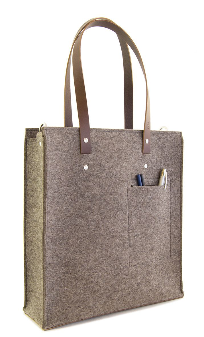 Grey wool felt TOTE BAG by anonimaMente design #woolfelt #madeinitaly
