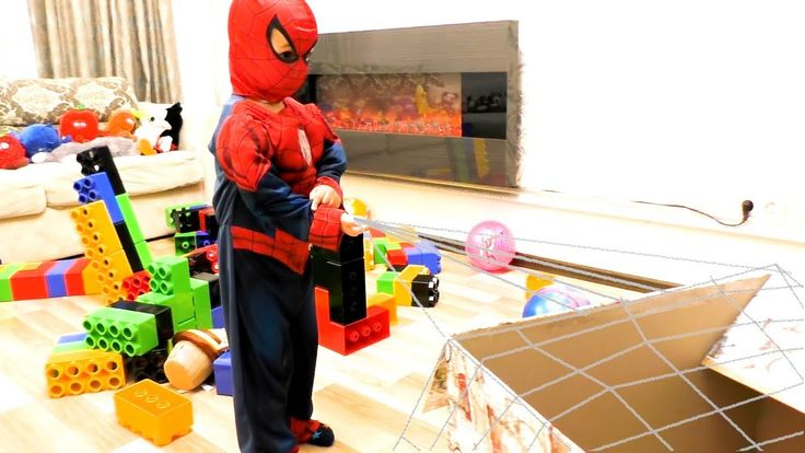 Spiderman for Kids clean up room. Watch funny vide…