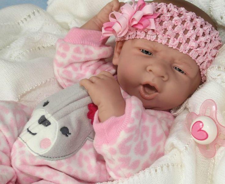 Yawning Baby Girl Pacifier Berenguer Newborn Reborn Baby