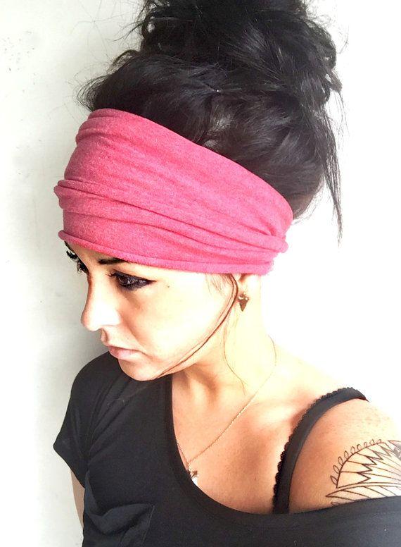 Coral Scrunch Headband, Extra Wide Headband, Jersey ...