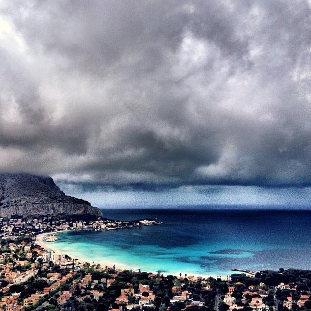 #SicilyTourism - #Sea - #Sicily - This is Mondello Beach, near Palermo.