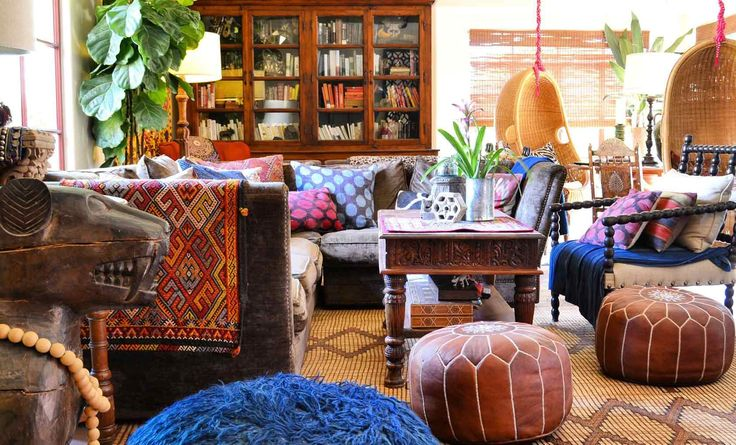 The colour! The textures! Love it! Global Finds Enrich a Young Family's Home in Arizona