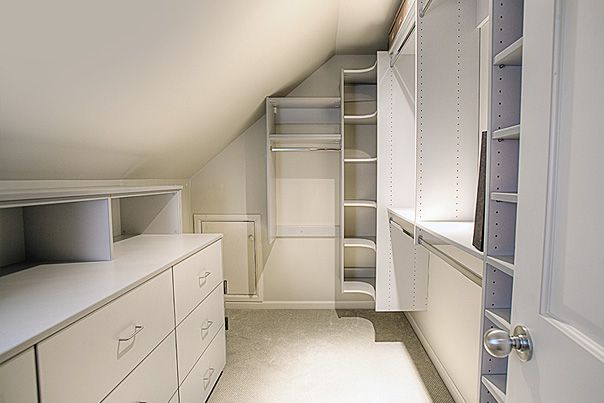 Along with a master bath in the attic over the garage, we'd also put the master closet in there as well.