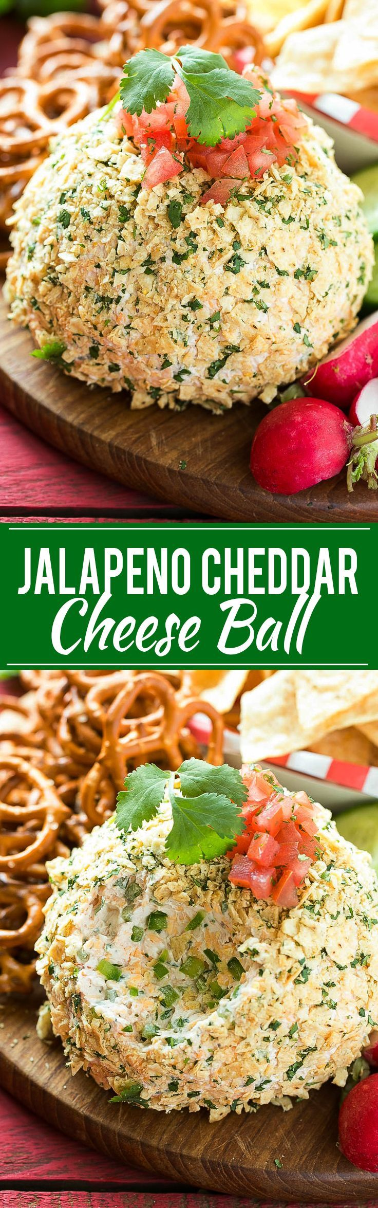 Jalapeño Cheddar Cheese Ball - Full of zesty Mexican flavor and takes just minutes to make. The perfect snack for game day!