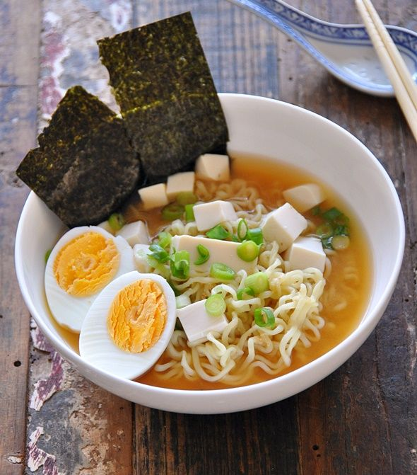 A lazy girl's recipe for an, umm, lazy entree. #japanese #ramen recipe here: www.fussfreecooking.com