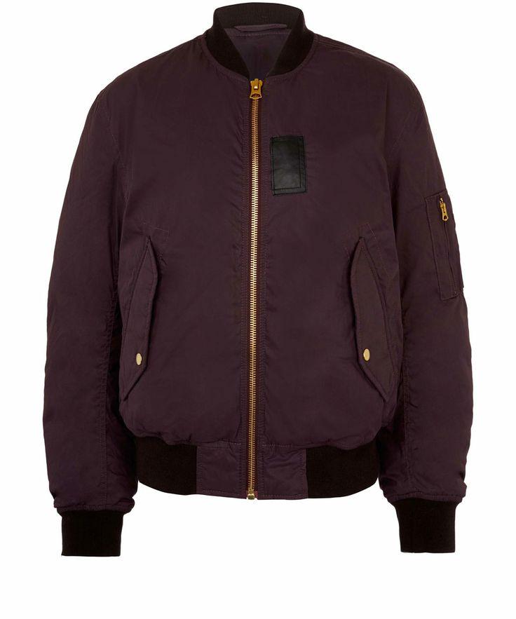 Acne Burgundy Sid Cotton-Blend Bomber Jacket | Jackets by Acne | Liberty.co.uk