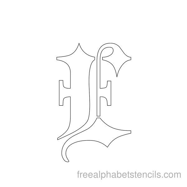 1000 ideas about gothic alphabet on pinterest old for Template gothic font free