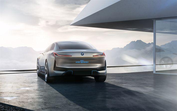 Descargar fondos de pantalla BMW i Visión Dinámica del Concepto de 2017, vista posterior, sedán, los coches del futuro, BMW, los coches alemanes